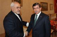 دیدار ظریف با نخست وزیر ترکیه