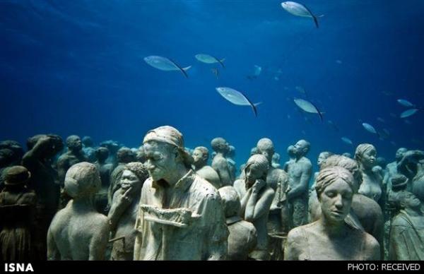 تصاویر/مجسمههای زیرآبی استانبول