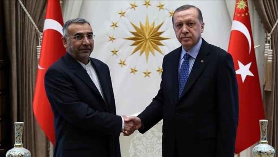 تقدیم استوار نامه سفیر جدید ایران در آنکارا به اردوغان