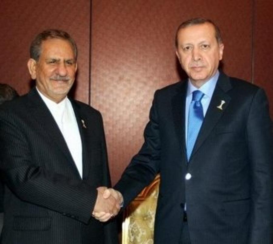دیدار معاون اول رِییس جمهورایران با اردوغان در ترکمنستان