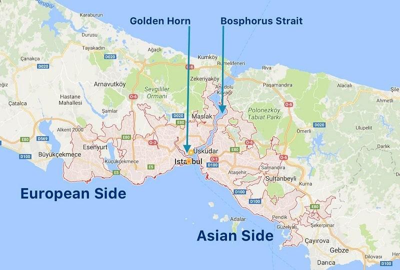 منطقه اروپایی و آسیایی استانبول