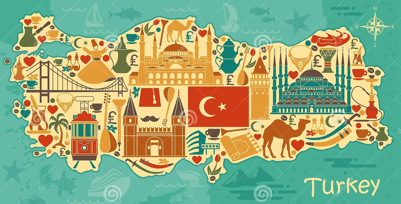 ترکیه ، هر شهر ، یک سمبل