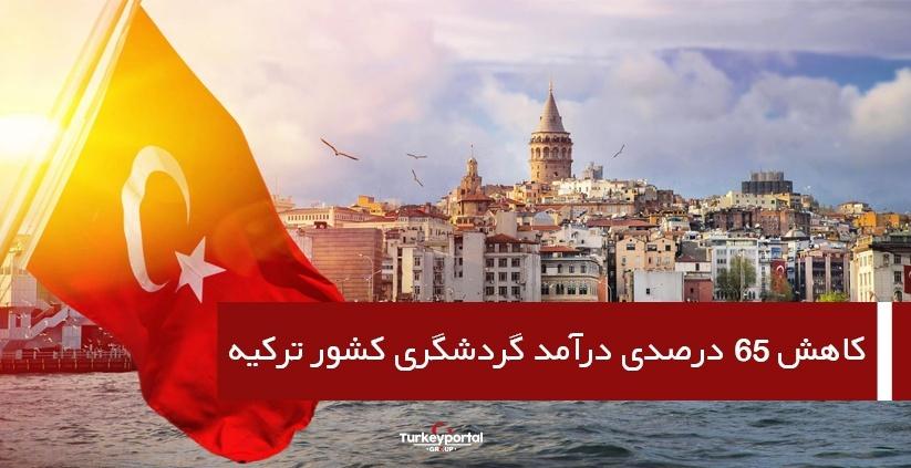 کاهش ۶۵ درصدی درآمد گردشگری کشور ترکیه
